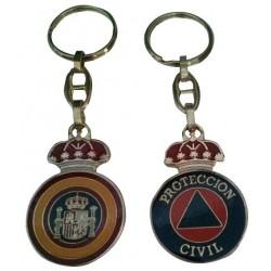Llavero Plata Pera Tricorcnio Guardia Civil