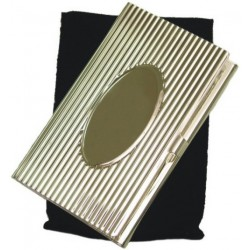Tarjetero Metalico Ovalo con funda
