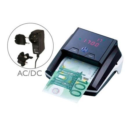 DETECTOR Q-CONNECT DE BILLETES FALSOS CON CARGADOR ELECTRICO PUERTO USB ACTUALIZACION DE DIVISAS
