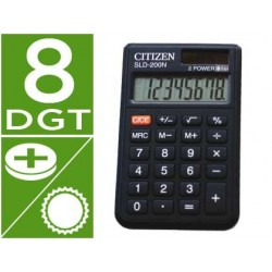 CALCULADORA CITIZEN BOLSILLO SLD-200N 8 DIGITOS