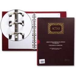 LIBRO MIQUELRIUS DIN A4 -ACTAS -CON 100 HOJAS MOVIBLES