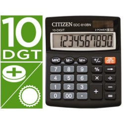 CALCULADORA CITIZEN SOBREMESA SDC-810 BN 10 DIGITOS