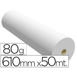 PAPEL REPROGRAFIA PARA PLOTTER 610MMX50MT 80GR IMPRESION INK-JET