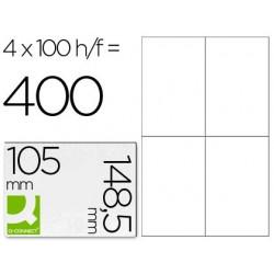 ETIQUETA ADHESIVA Q-CONNECT KF10660 TAMA?O 105X148,5 MM FOTOCOPIADORA LASER INK-JET CAJA CON 100 HOJAS DIN A4