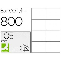 ETIQUETA ADHESIVA Q-CONNECT KF10659 TAMA?O 105X74 MM FOTOCOPIADORA LASER INK-JET CAJA CON 100 HOJAS DIN A4