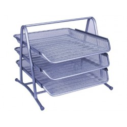 BANDEJA SOBREMESA METALICA Q-CONNECT KF00822 REJILLA PLATA 3 BANDEJAS MOVIBLES 350X278X2758 MM
