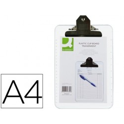 PORTANOTAS Q-CONNECT PLASTICO TRANSPARENTE DIN A4 4 MM