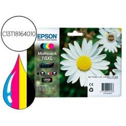 INK-JET EPSON MULTIPACK T18XL NEGRO AMARILLO CIAN Y MAGENTA XP-102 XP-205 XP-305 XP-405 CAPACIDAD 470 PAG