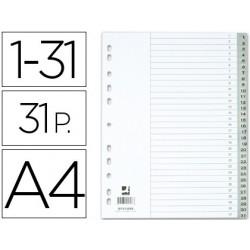 SEPARADOR NUMERICO Q-CONNECT PLASTICO 1-31 JUEGO DE 31 SEPARADORES DIN A4 -MULTITALADRO