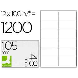 ETIQUETA ADHESIVA Q-CONNECT KF10657 TAMA?O 105X48 MM FOTOCOPIADORA LASER INK-JET CAJA CON 100 HOJAS DIN A4