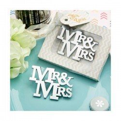 """ABREBOTELLAS """"MR & MRS""""  EN CAJA REGALO"""