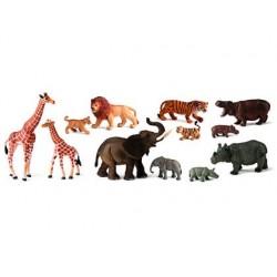 JUEGO MINILAND ANIMALES SELVA CON CRIAS 12 FIGURAS