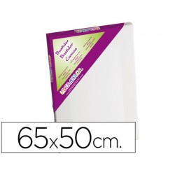 BASTIDOR LIDERCOLOR 15P LIENZO GRAPADO LATERAL ALGODON 100% MARCO PAWLONIA 1,8X3,8 CM BORDES MADERA 65X50 CM