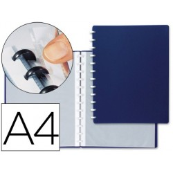 CARPETA LIDERPAPEL DIN A4 CON 20 FUNDAS INTERCAMBIABLES COLOR AZUL