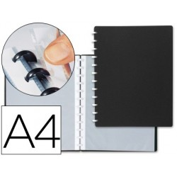 CARPETA LIDERPAPEL DIN A4 CON 20 FUNDAS INTERCAMBIABLES COLOR NEGRO