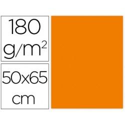 CARTULINA LIDERPAPEL 50X65 CM 180G/M2 NARANJA FUERTE PAQUETE DE 25