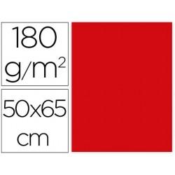 CARTULINA LIDERPAPEL 50X65 CM 180G/M2 ROJO NAVIDAD PAQUETE DE 25