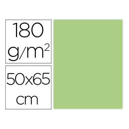 CARTULINA LIDERPAPEL 50X65 CM 180G/M2 VERDE HIERBA PAQUETE DE 25