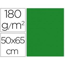 CARTULINA LIDERPAPEL 50X65 CM 180G/M2 VERDE NAVIDAD PAQUETE DE 25