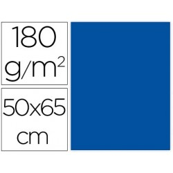 CARTULINA LIDERPAPEL 50X65 CM 180G/M2 AZUL PAQUETE DE 25