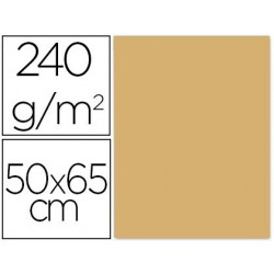 CARTULINA LIDERPAPEL 50X65 CM 240G/M2 AVELLANA PAQUETE DE 25 UNIDADES