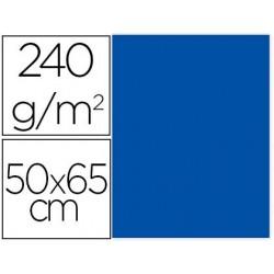 CARTULINA LIDERPAPEL 50X65 CM 240G/M2 AZUL PAQUETE DE 25 UNIDADES