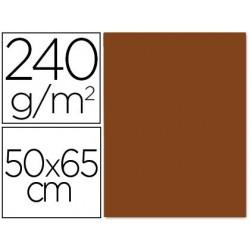 CARTULINA LIDERPAPEL 50X65 CM 240G/M2 MARRON PAQUETE DE 25 UNIDADES
