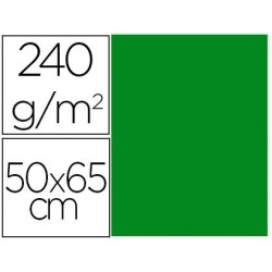 CARTULINA LIDERPAPEL 50X65 CM 240G/M2 VERDE NAVIDAD PAQUETE DE 25 UNIDADES