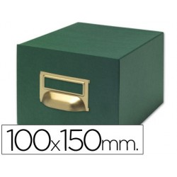 FICHERO FICHAS TELA VERDE 1000 FICHAS N.3 -TAMA?O 100X150 MM