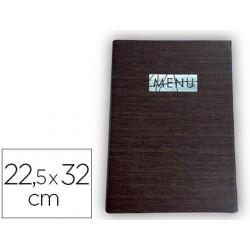PORTA MENUS LIDERPAPEL PU 22,5 X 32 CM CON SUJECCION EN ESQUINAS PARA 2 HOJAS