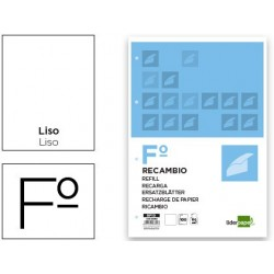 RECAMBIO LIDERPAPEL FOLIO 100 H 4TF-10 LISO 4 TALADROS