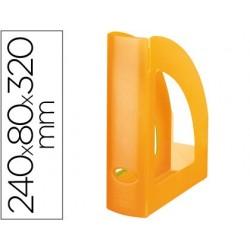 REVISTERO PLASTICO Q-CONNECT NARANJA TRANSLUCIDO