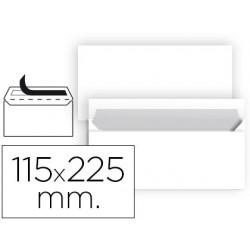 SOBRE LIDERPAPEL N 5 BLANCO AMERICANO 115X225 MM TIRA DE SILICONA PAQUETE DE 25 UNIDADES