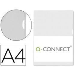 CARPETA DOSSIER U?ERO PLASTICO Q-CONNECT DIN A4 120 MICRAS TRANSPARENTE -BOLSA DE 10 UNIDADES