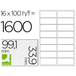 ETIQUETA ADHESIVA Q-CONNECT KF01584 TAMA?O 99,1X33,9 MM FOTOCOPIADORA LASER INK-JET CAJA CON 100 HOJAS DIN A4