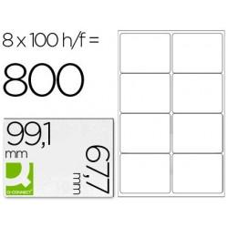 ETIQUETA ADHESIVA Q-CONNECT KF01588 TAMA?O 99,1X67,7 MM FOTOCOPIADORA LASER INK-JET CAJA CON 100 HOJAS DIN A4