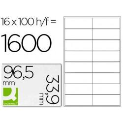 ETIQUETA ADHESIVA Q-CONNECT KF10651 TAMA?O 96,5X33,9 MM FOTOCOPIADORA LASER INK-JET CAJA CON 100 HOJAS DIN A4