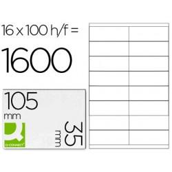 ETIQUETA ADHESIVA Q-CONNECT KF10653 TAMA?O 105X35 MM FOTOCOPIADORA LASER -INK-JET CAJA CON 100 HOJAS DIN A4