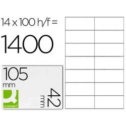 ETIQUETA ADHESIVA Q-CONNECT KF10655 TAMA?O 105X42 MM FOTOCOPIADORA LASER INK-JET CAJA CON 100 HOJAS DIN A4