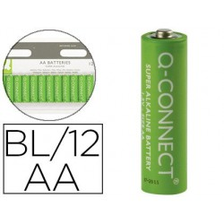 PILA Q-CONNECT ALCALINA AA -BLISTER CON 12 PILAS