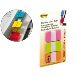 BANDERITAS SEPARADORAS RIGIDAS DISPENSADOR 3 COLORES POST-IT INDEX 686-PGO MEDIANOS22 BANDERITAS POR COLOR