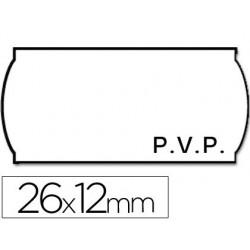ETIQUETAS METO ONDULADAS 26 X 12 MM PVP BL. ADH 2 -ROLLO 1500 ETIQUETAS TROQUELADAS