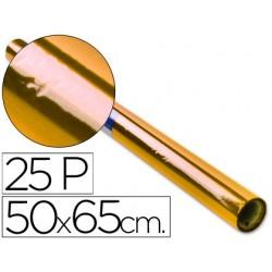 PAPEL CELOFAN ROLLO TREPADO AMARILLO -25 HOJAS DE 50X65 CM