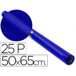 PAPEL CHAROL ROLLO AZUL -25 HOJAS DE 50X65 CM