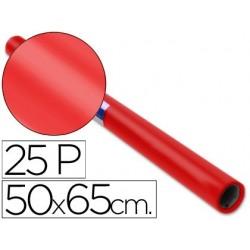 PAPEL CHAROL ROLLO ROJO -25 HOJAS DE 50X65 CM