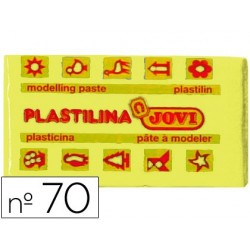 PLASTILINA JOVI 70 AMARILLO CLARO -UNIDAD -TAMA?O PEQUE?O