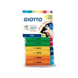 PORTATIZAS PLASTICO GIOTTO BLISTER DE 5 + 1 DE REGALO