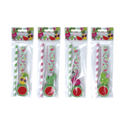 SET 4 PCS PAPELERIA TROPICAL EXOTIC