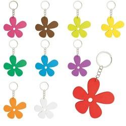 LLAVERO DE MADERA HAPPY FLOWER( 1 PACK 10 UDS.)