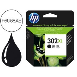 INK-JET HP 302 XL DESKJET 1110 / 2130 / 3630 OFFICEJET 3830 / 4650 ENVY 4520 COLOR NEGRO 480 PAG
